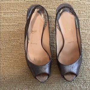 Christian Louboutin gunmetal heels